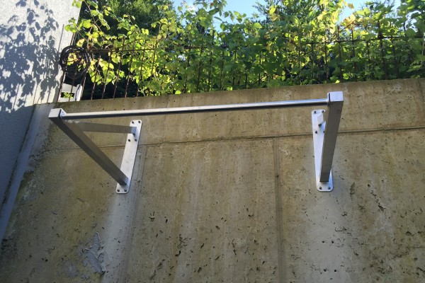Muscle Up Klimmzugstange - zur Wandbefestigung, 80 cm Abstand