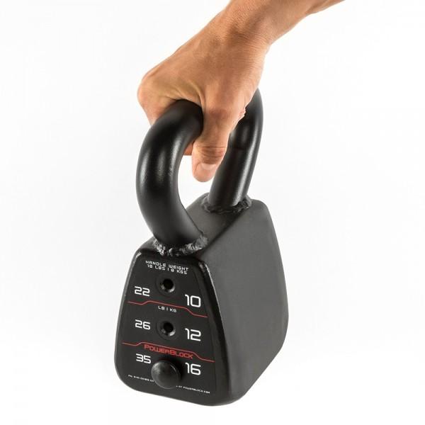 Powerblock® Kettlebell-Block mit 4 Gewichtsstufen von 8 bis 16 kg