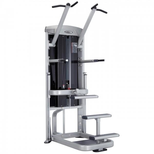 Klimmzug- & Dipstation mit 95kg Gegengewichten