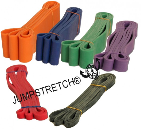 Widerstandsbänder SET - JUMPSTRETCH® LR‐POWER- rot/schwarz/grün/violett-SET