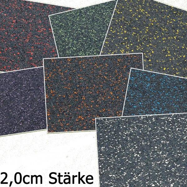 Granulat Bodenschutzplatte - 1000 x 1000 x 20 mm PREMIUM EXTRA in 7 Farben