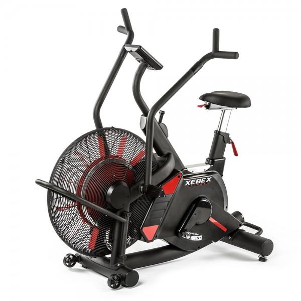 XEBEX® Magnetic Air Bike VR-1 mit Riemenantrieb und 8-fach verstellbarem Widerstand