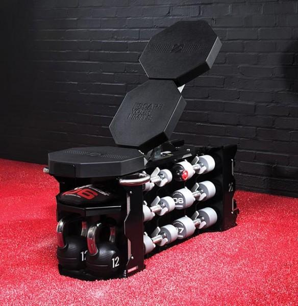 Strongbox inkl. 6 Paar Kurzhanteln