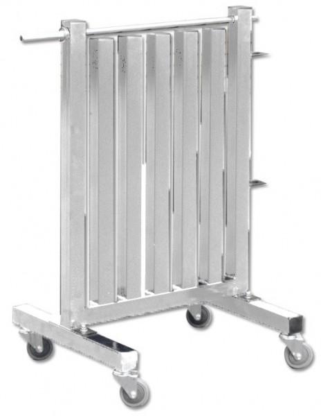 Aerobic‐Hantel‐Rack für bis zu 60 Trainingshanteln - SILBER