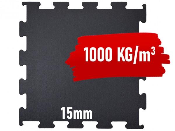 Granulat Bodenschutzplatte Puzzle-1000x1000x15 mm PREMIUM - EXTRA HOHE DICHTE
