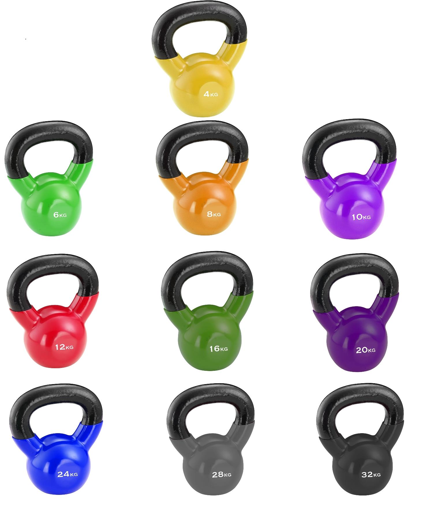 Color Kettlebells ‐ Vinyl | Kettlebells | Functional ...
