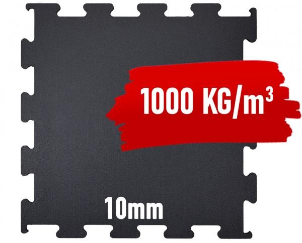 Granulat Bodenschutzplatte - 1000x1000x10 mm PREMIUM EXTRA-PUZZLE