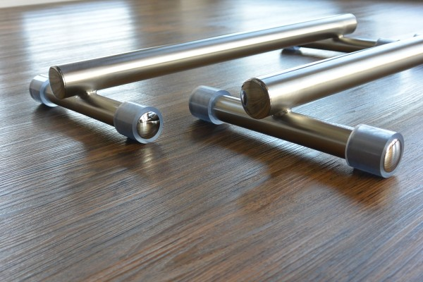 Handstandbarren, Mini-Barren, Paralletes aus Edelstahl - 7,5 cm hoch