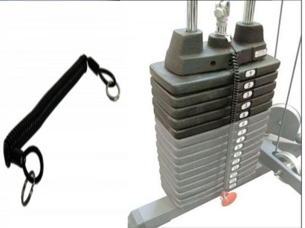 Spiralgummi für Steckpin zur Befestigung am Gewichtsblock