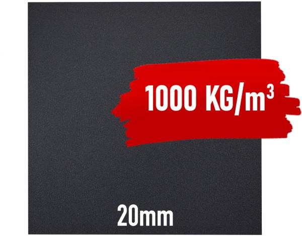 Granulat Bodenschutzplatte - 1000x1000x20 mm PREMIUM - EXTRA HOHE DICHTE