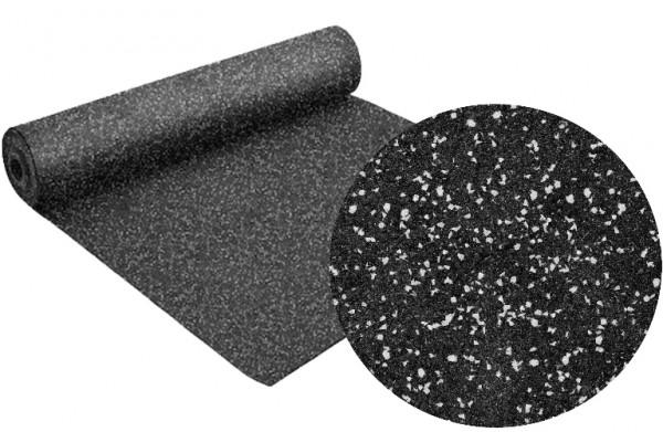 Gummi-Schutzbelag 8 mm Stärke / 8x1,25m (10qm/Rolle) - Schwarz-Grau-Mix