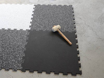 Gummi‐Puzzle Platten 60x60x1cm ‐ 3 Farben