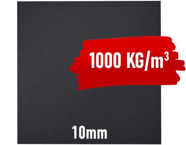 Granulat Bodenschutzplatte - 1000x1000x10 mm PREMIUM EXTRA HOHE DICHTE