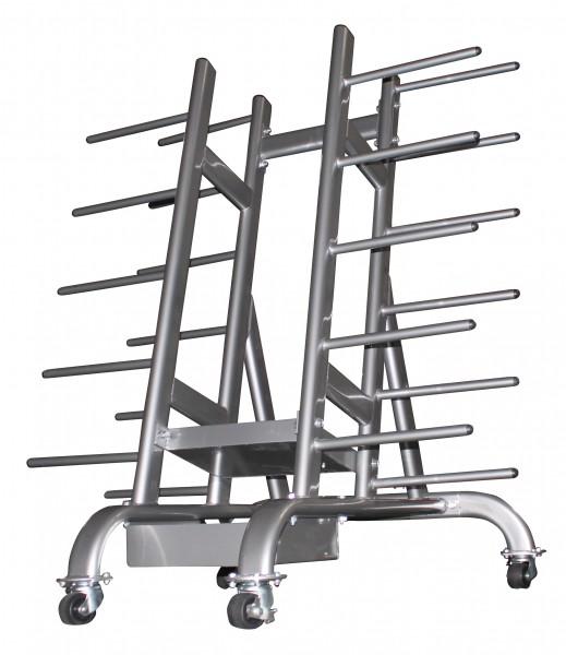 Oval‐Aerobic Set Ständer ‐ rollbar