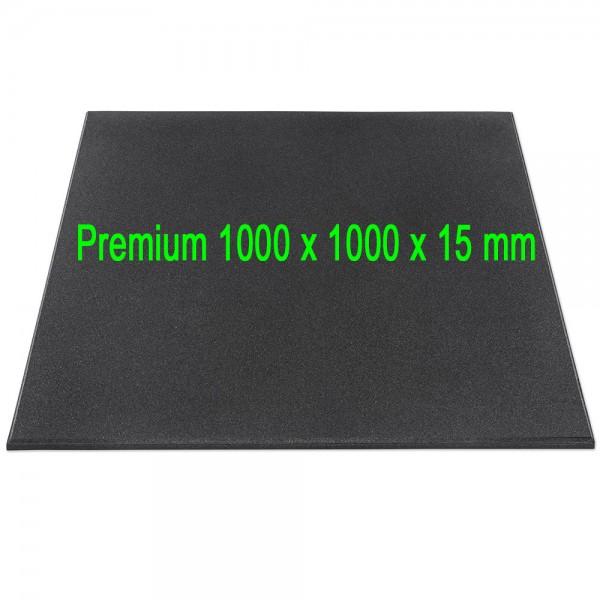 Granulat Bodenschutzplatte - Premium - 1000 x 1000 x 15 mm