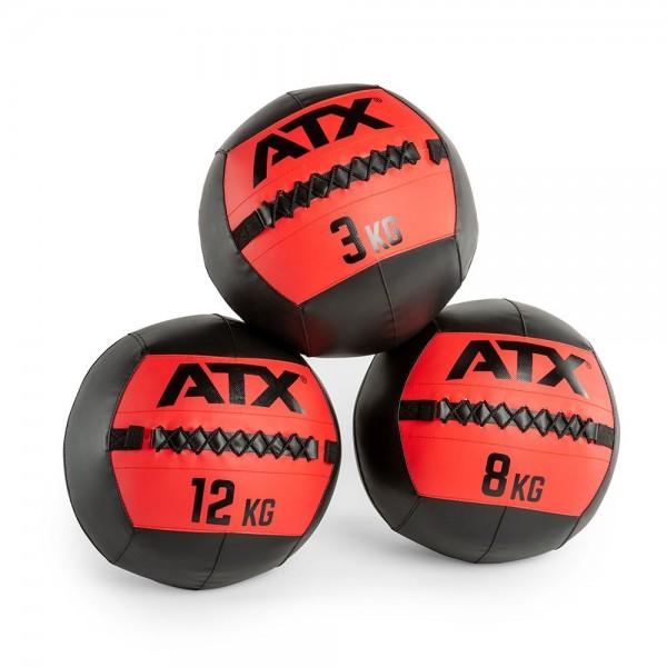 ATX® WALL BALLS - SCHWARZ / ROT - GRÖSSEN 3 BIS 12 KG