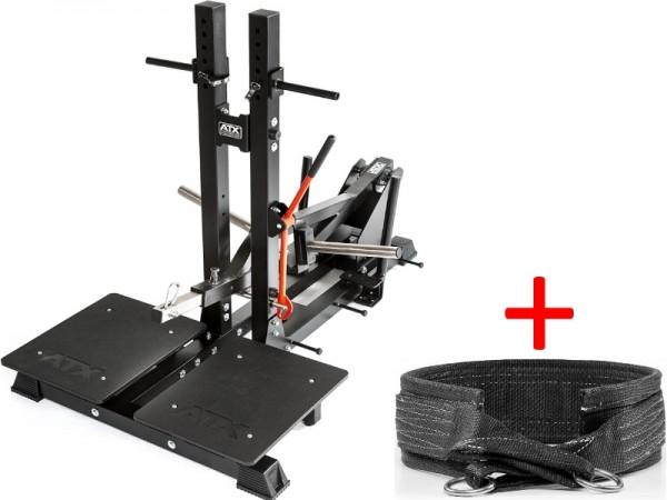 0790fcbbfee36 ATX® Belt Squat Machine - Kniebeugen   Dips Maschine inkl. Gewichtsgürtel.