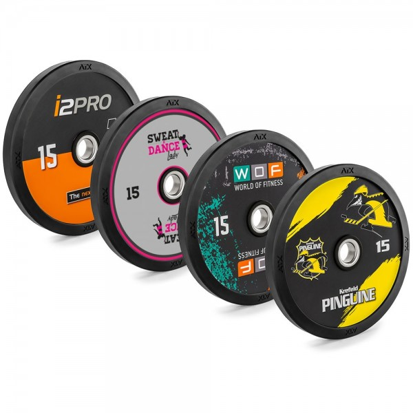 DYO - DESIGN YOUR OWN - FULL RUBBER BUMPER PLATES 5 BIS 25 KG