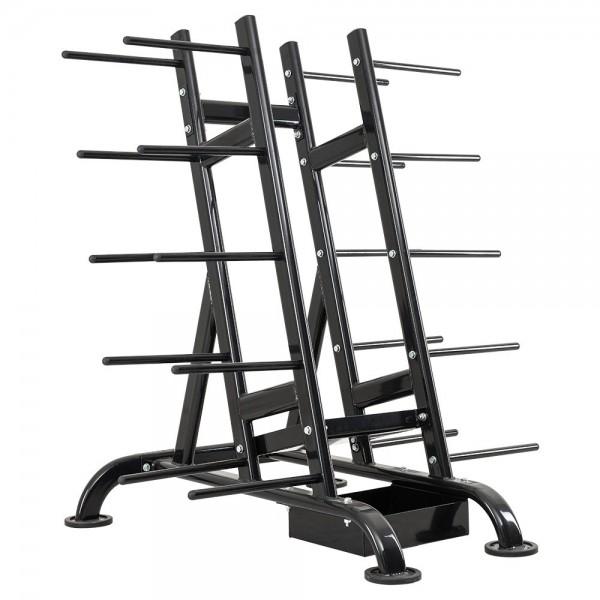 Oval‐Aerobic Set Ständer ‐ auch rollbar - schwarz - für bis zu 30 Sets