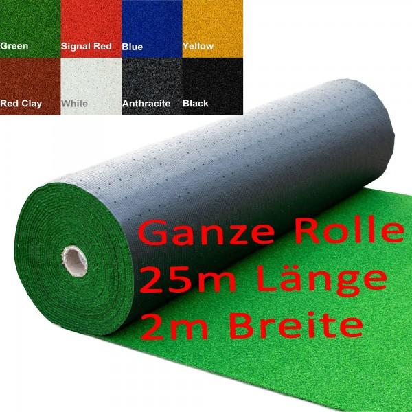 Kunstrasen Bunt/Color Line - Einfarbig Rolle a 25m Länge - 2m Breite 8 Farben möglich